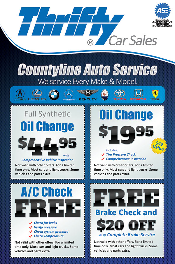 Thrifty Car Sales Flyer Design \ Printing in Florida - coupon flyer