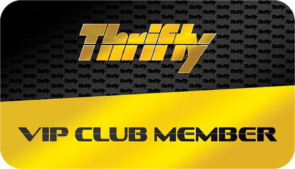 Thrifty VIP Club Member Card  Plastic Card Printing in FL