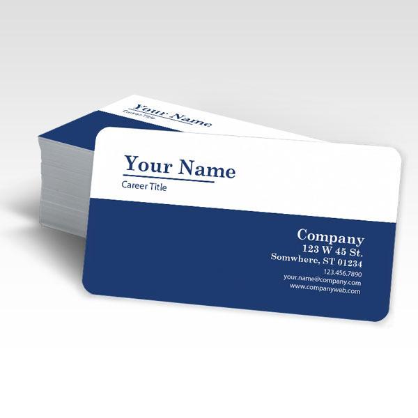 Buy Rounded Corner Business Cards in FL - Radius 1/4\