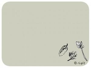 秋のHP制作につかえるのどんぐりと葉っぱのワンポイントのイラストのフレーム:640×480pix