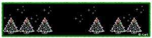 クリスマスのHP制作に使えるクリスマスツリーとキラキラいっぱいのフレーム:800×200pix