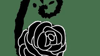 モノトーンのラグジュアリーな花(バラ)の飾り文字6のweb素材:400×400pix
