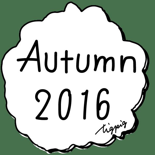 ネットショップ制作に使える手書き文字Autumn 2016とラフな雲形の枠:600×600pix