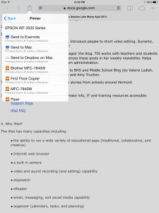 Painless printing on the iPad