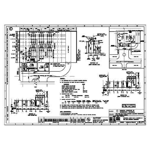 Electrical Layout Plan and Elevation (33kv Substation) - SATCON, AI