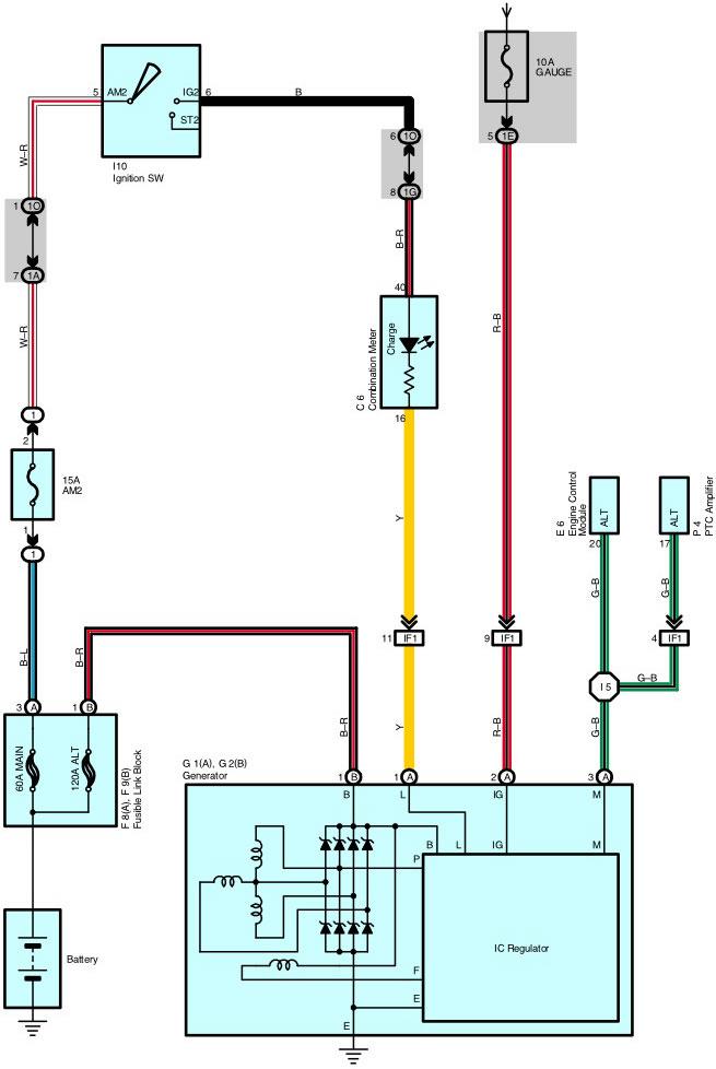 Scion Xb Alternator Wiring Diagram Wiring Schematic Diagram