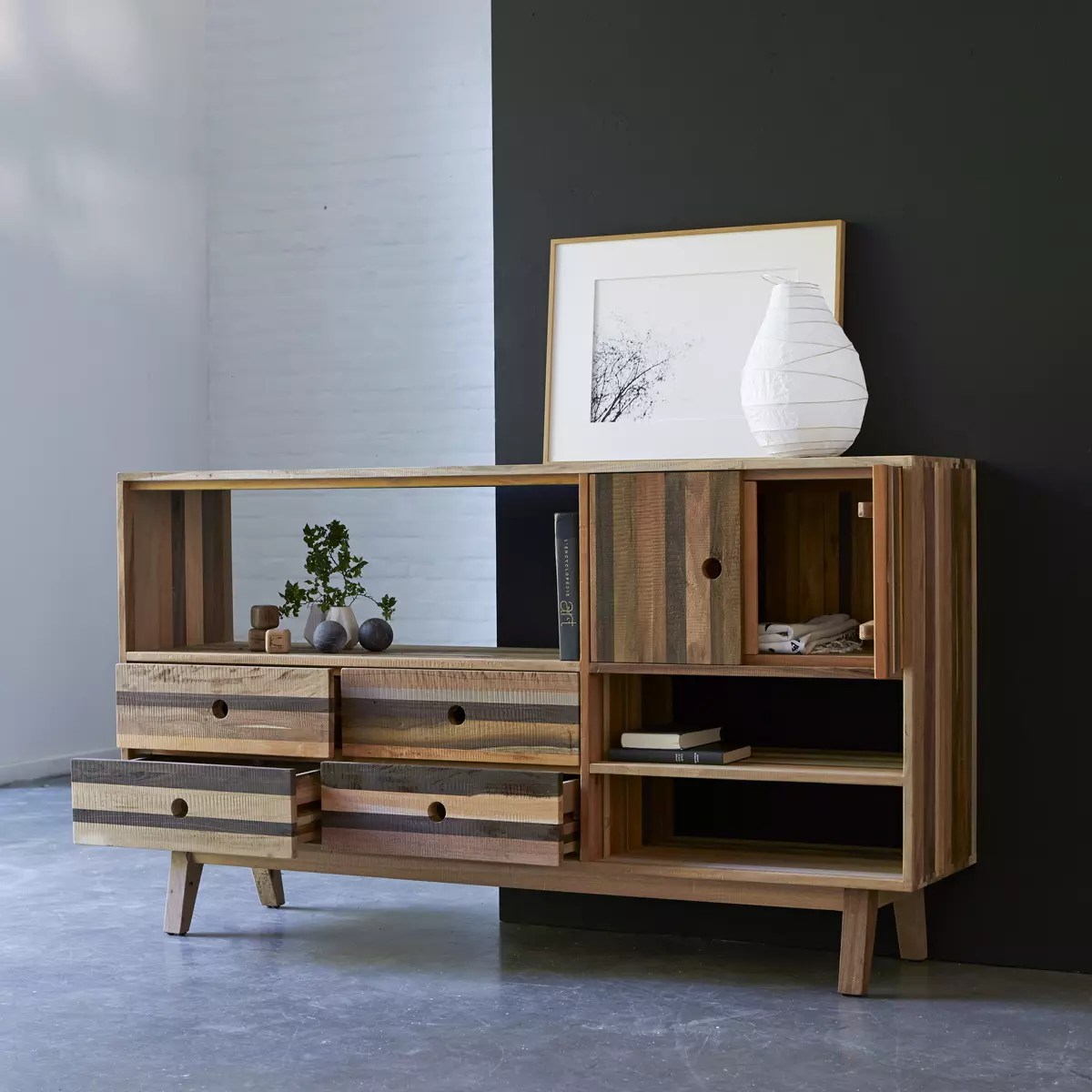 Anrichte Aus Recyceltem Holz 180 Brooklyn Sideboards Buffets Tikamoon