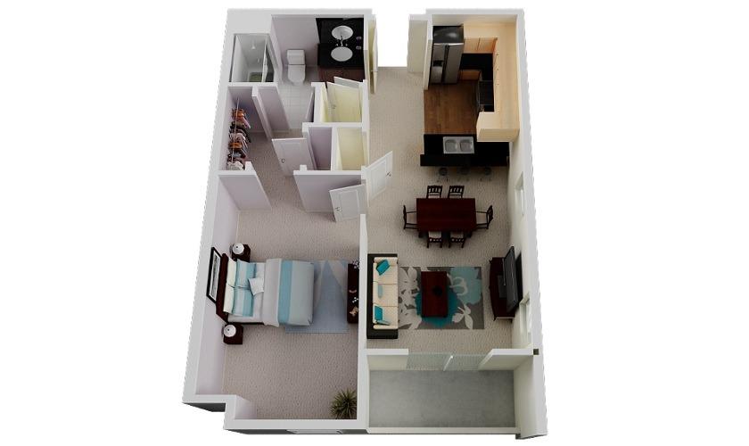 apartamentos-de-un-dormitorio-1jpg 840×500 pixeles t Pinterest
