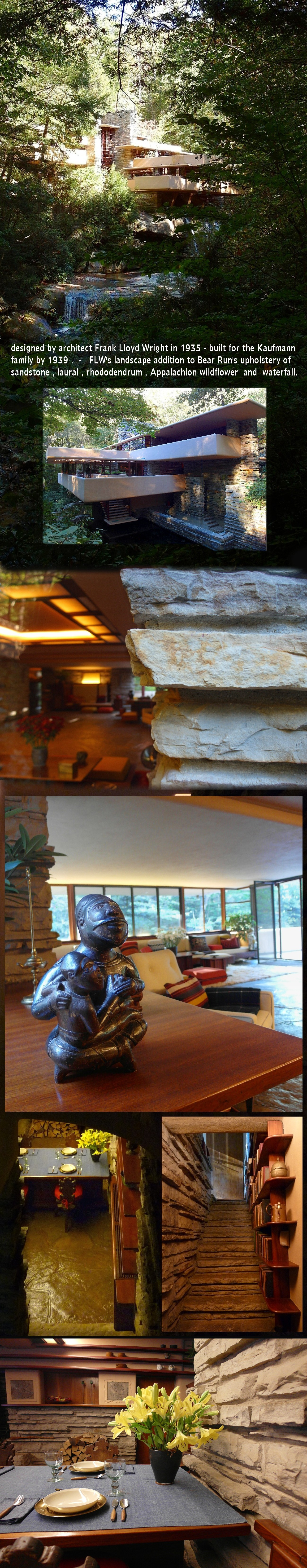 Falling Water House Usa The Bear S Run Flw S Fallingwater Pa Usa Tiki Obscure