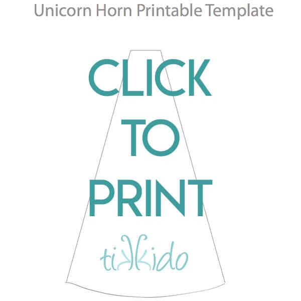 Easy DIY Felt Unicorn Horn Headband Tutorial  Free Printable - unicorn template