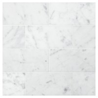 "Carrara Honed | 3"" x 6"" Natural Stone Marble Subway Tile"