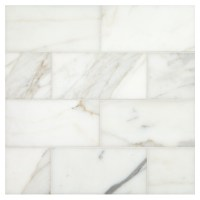 "Calacatta Gold Honed | 3"" x 6"" Natural Stone Marble Subway ..."