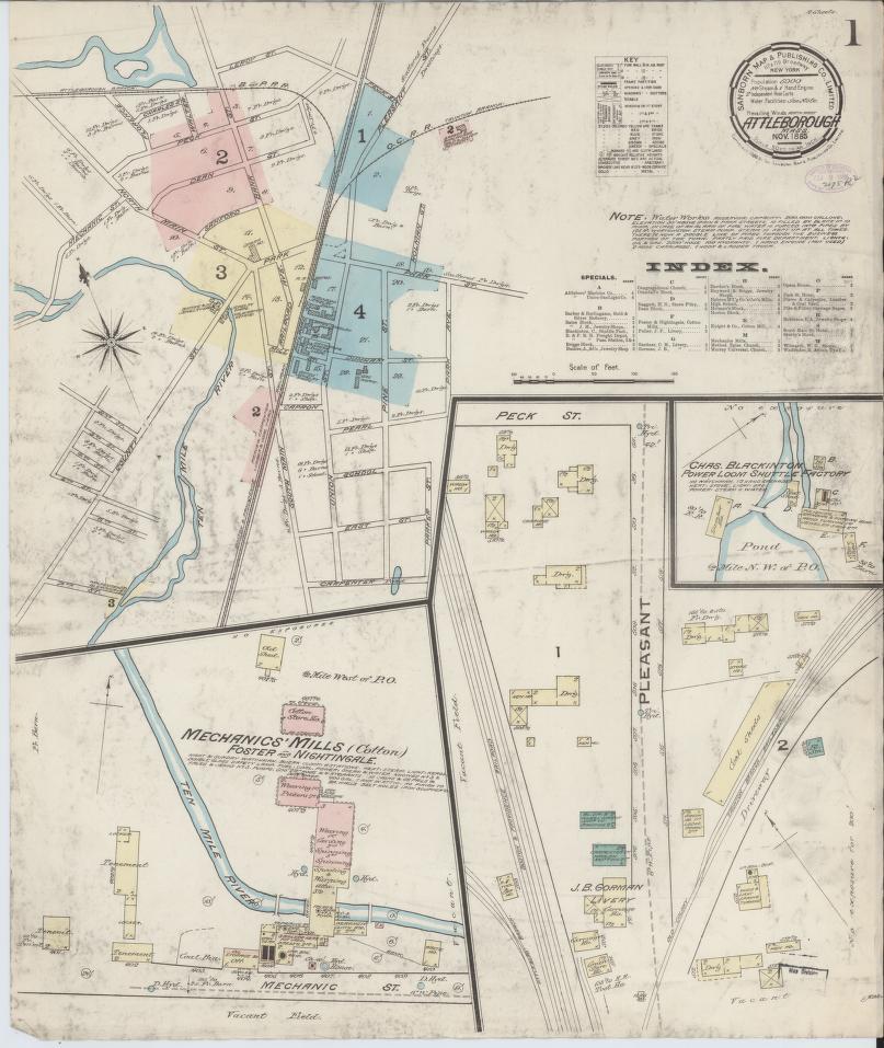 Map, Massachusetts Library of Congress