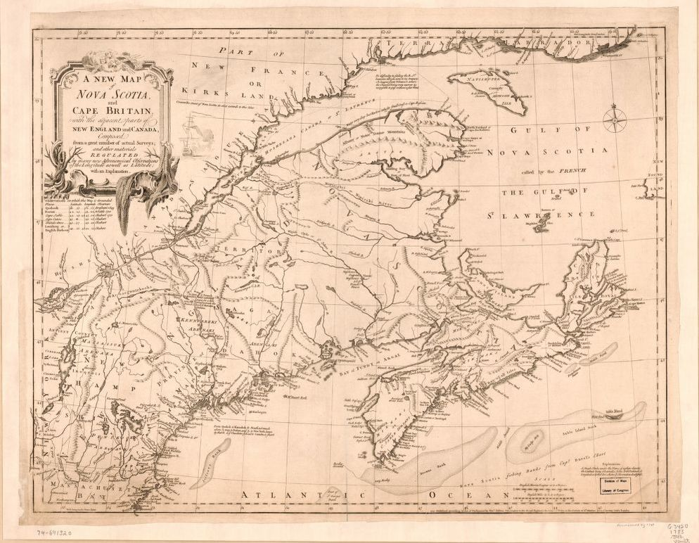 A new map of Nova Scotia, and Cape Britain With the adjacent parts