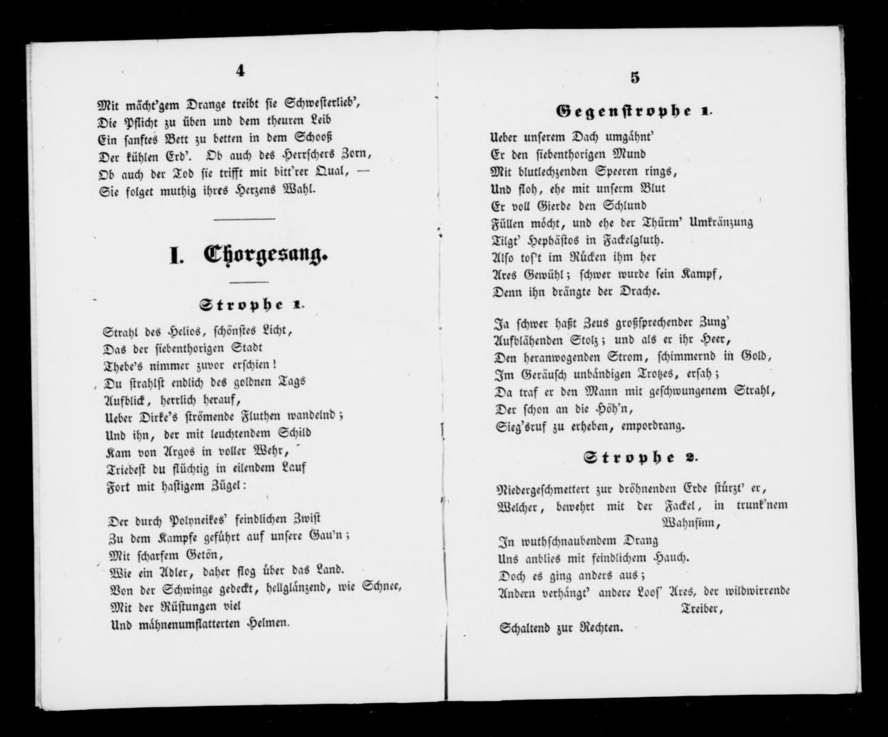 Floh Im Bett Albert Schatz Collection Antigone Libretto German Musschatz
