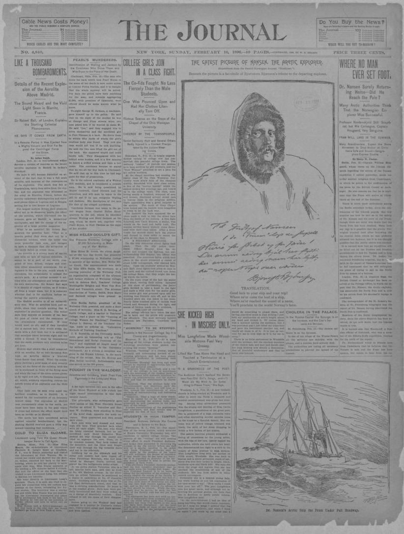 Arte Le Journal Junior Newspaper 1800 To 1899 Library Of Congress
