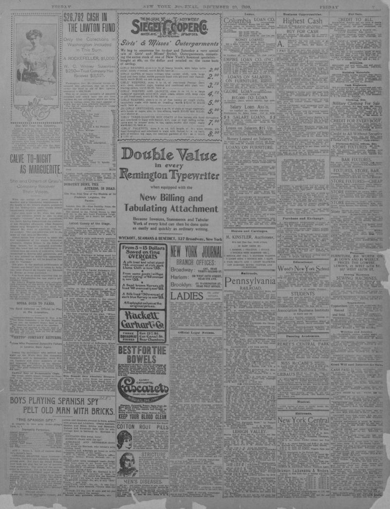 Cash Pool Dessau Image 7 Of New York Journal And Advertiser New York N Y