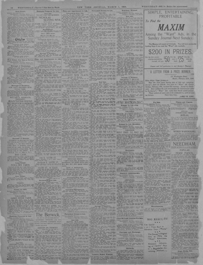 Cash Pool Marl Image 12 Of New York Journal And Advertiser New York N Y