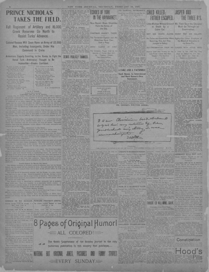 Notice Porte De Placard Form Image 2 Of New York Journal New York N Y February 18 1897