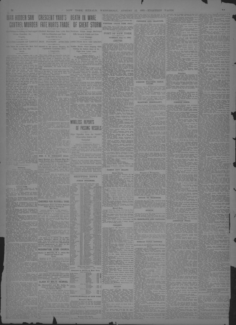 Rollo Bremen Image 16 Of The New York Herald New York N Y August 12 1903