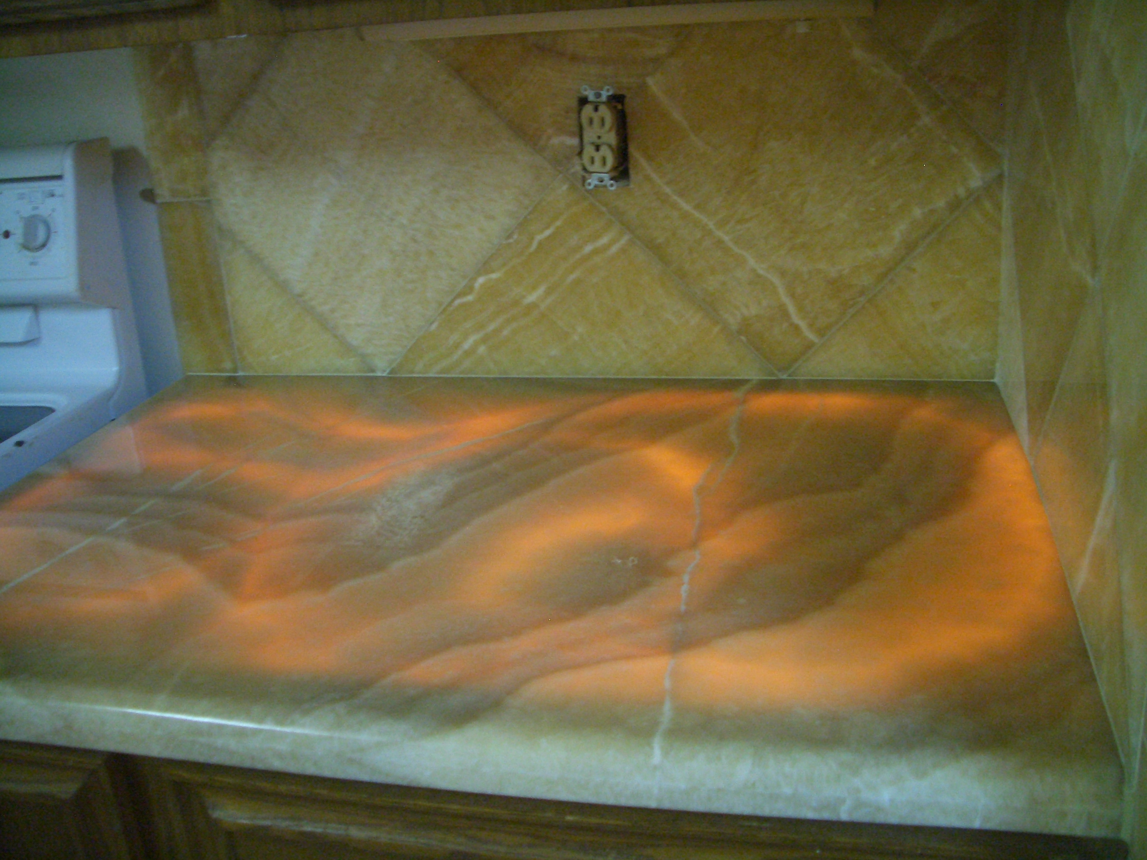Onyx Kitchen Backsplash Tile Art Center