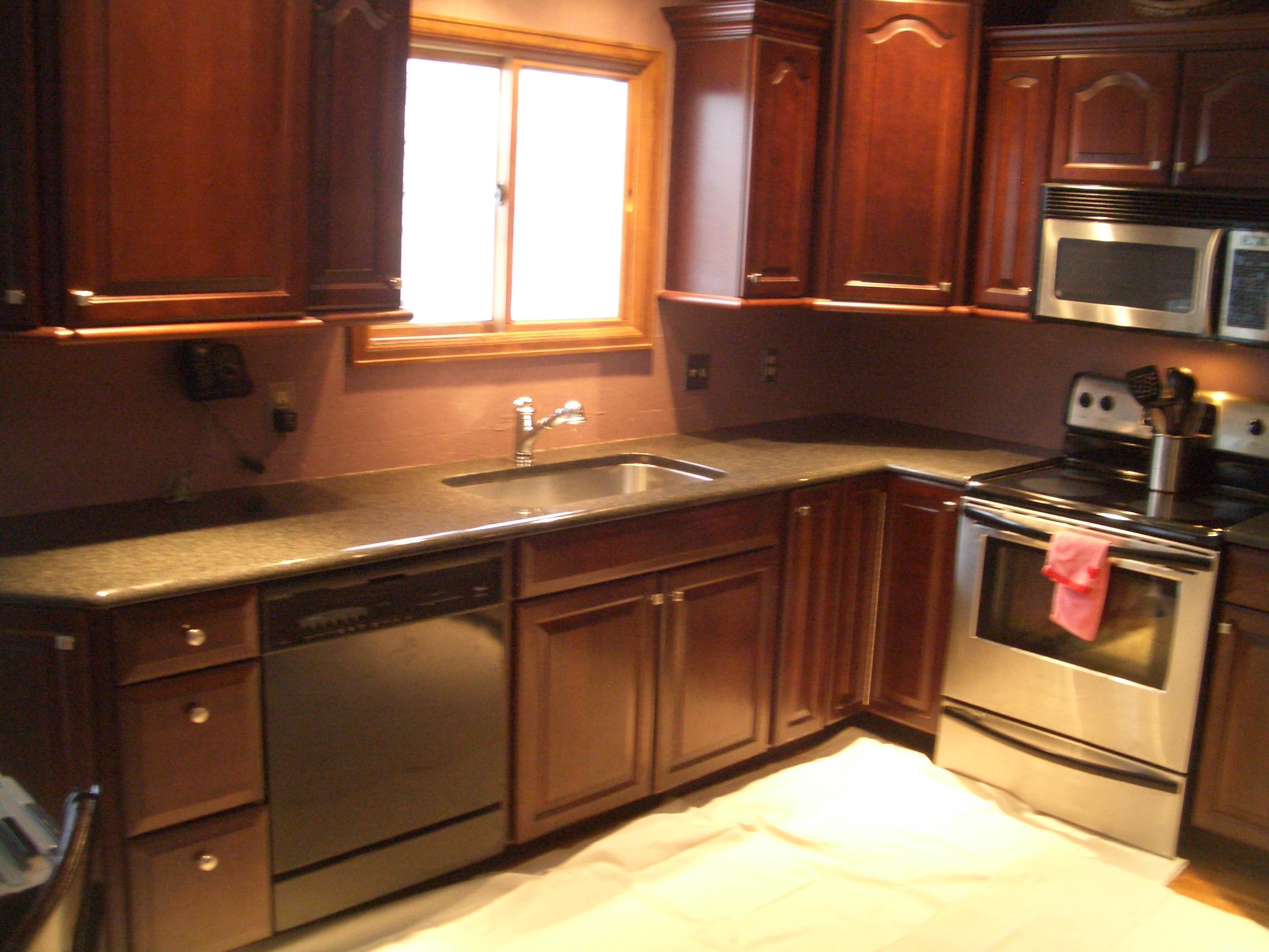 glass tile kitchen backsplash in fort collins kitchen backsplash tiles Glass tile backsplash before