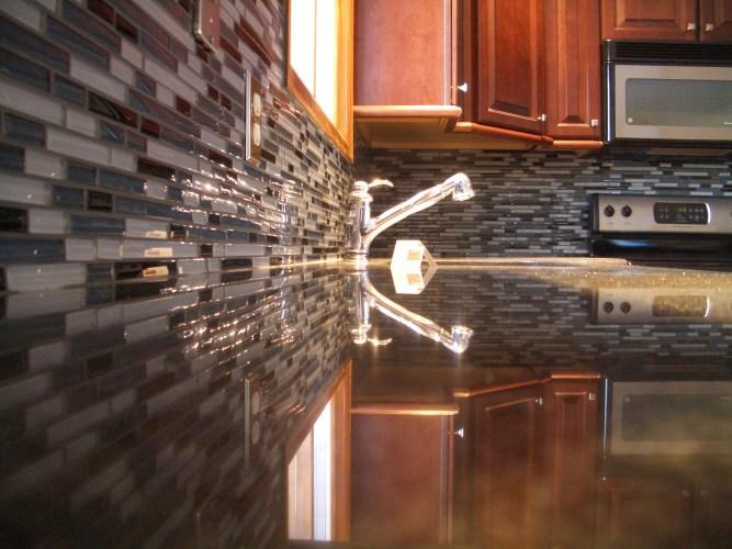 glass tile kitchen backsplash in fort collins glass backsplash kitchen Glass tile kitchen backsplash in Fort Collins