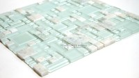 Ming Green Random Glass And Marble Mosaic | tiledaily