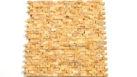 Gold Travertine Splitface Mosaic | tiledaily