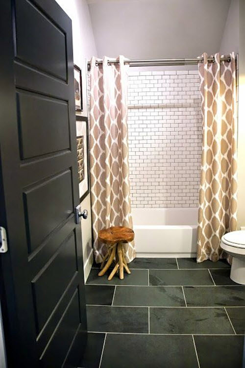 Holzfliesen 33 Black Slate Bathroom Floor Tiles Ideas And Pictures 2019