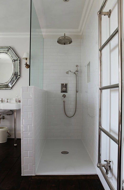 Moderne Duschen Bilder 31 White Subway Tile In Shower Ideas And Pictures