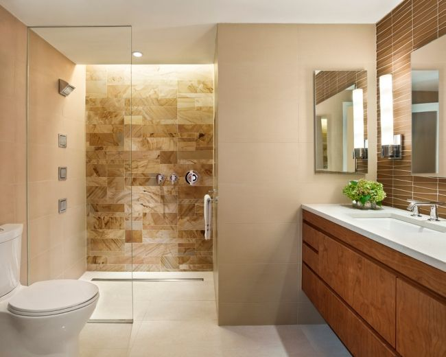Spiegelschrank Holz Eiche 40 Beige And Brown Bathroom Tiles Ideas And Pictures