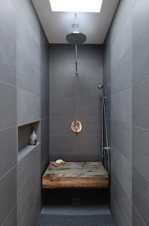 Cuartos De Baño Pequeños Con Plato De Ducha 40 Gray Slate Bathroom Tile Ideas And Pictures