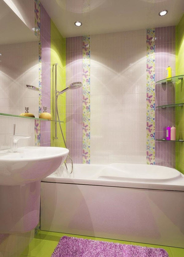Pastel Bathroom Colors 36 Purple Bathroom Wall Tiles Ideas And Pictures