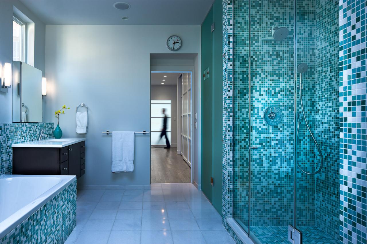 Mosaik Fliesen Petrol 40 Vintage Blue Bathroom Tiles Ideas And Pictures