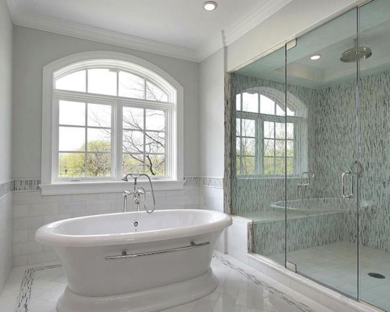 Bathroom Tile Ideas Grey 27 Nice Pictures Of Bathroom Glass Tile Accent Ideas