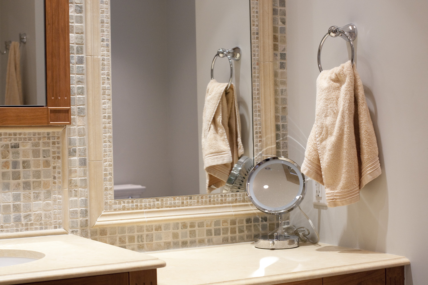 Stone Framed Bathroom Mirrors 30 Ideas Of Mosaic Tile Framed Bathroom Mirrors