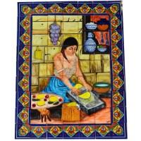 Mexican Talavera Mosaic Mural Tile Handmade Tortilla Maker ...
