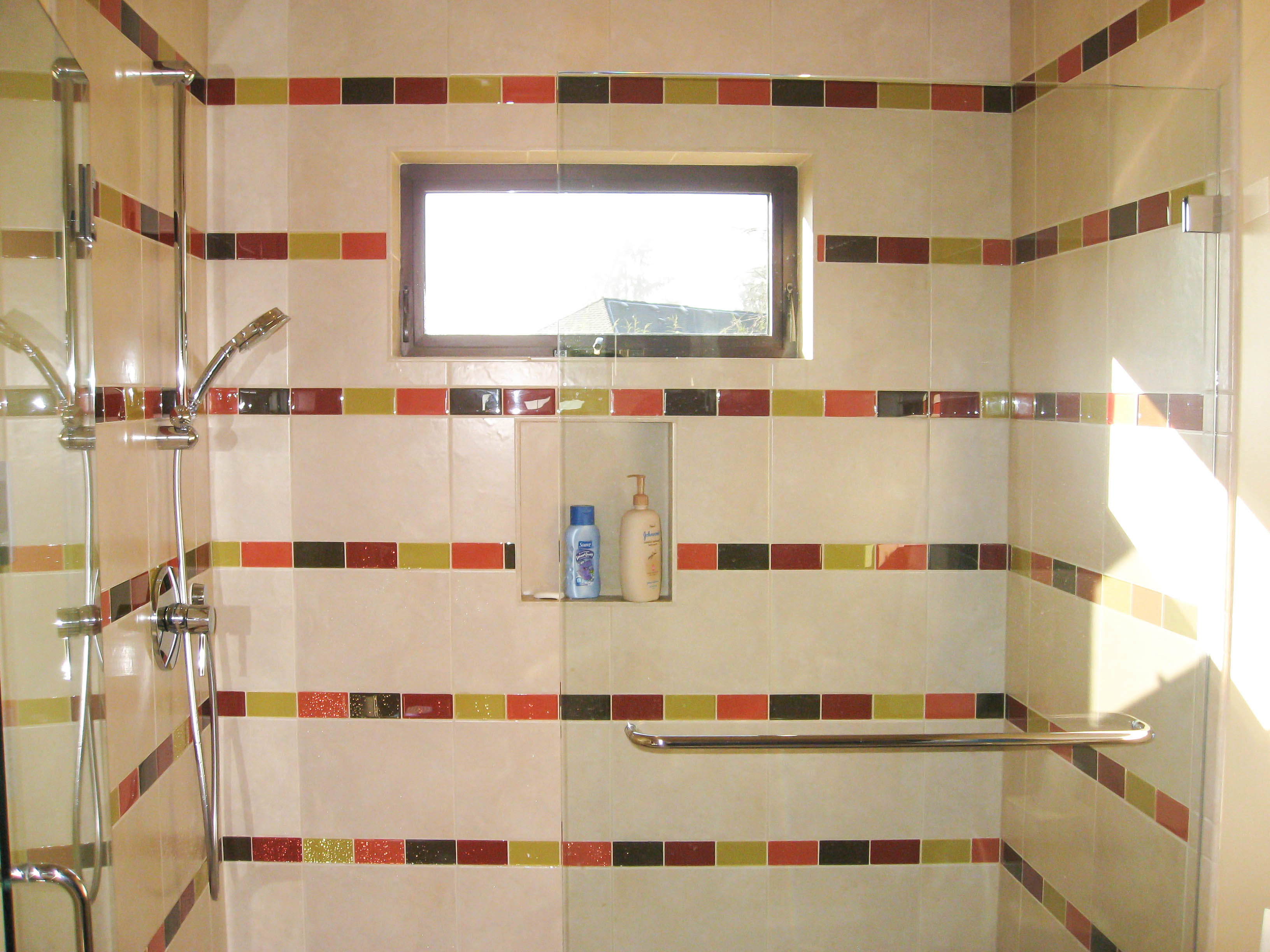 Marble Tile Fireplace Bathroom Showers Photos - Seattle Tile Contractor | Irc