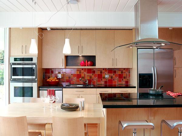 red tile backsplash popular metal backsplash option awesome kitchen backsplash ideas decoholic