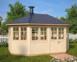 Garden Room with BBQ Alabtross 12m² / 21mm / 4,6 x 3,3 m