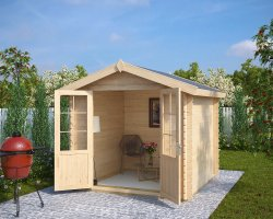 Summer House & Garden Shed Anita M 5m² / 28mm / 2,5 x 2,5 m