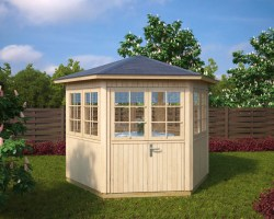 Hexagonal Summer House Festival 6m² / 21mm / 3 x 2,6 m