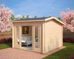Modern Log Cabin Nora E 9m² / 44mm / 3 x 3 m