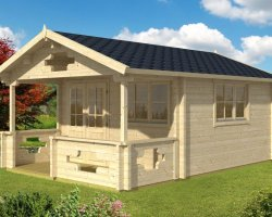 Summerhouse with Veranda Sommerland-A 14m² / 70mm / 4 x 4 m