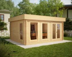Large Garden Summer House Ian D 18m² / 50mm / 5 x 4 m