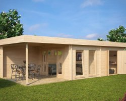 Large Garden Room with Storage Room Rio 22m² / 50mm / 9 x 4 m