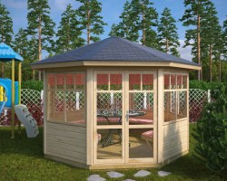 Octagonal Summerhouse Paradise 9,5m² / 42mm / 3,6 x 3,3 m