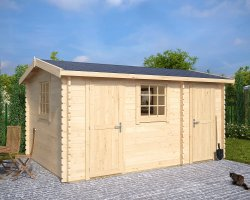 Summerhouse with Shed Bora 13m² / 44mm / 15' x 10'