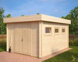 Workshop Shed Jacob F 12m² / 40mm / 4 x 3 m